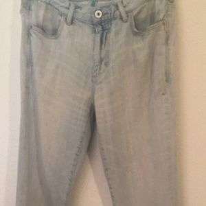 Tommy Bahama distressed vintage straight jeans 34